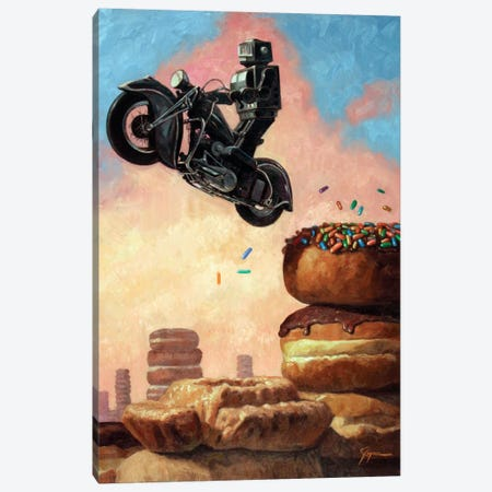 Dark Rider Again Canvas Print #EJR4} by Eric Joyner Canvas Art Print