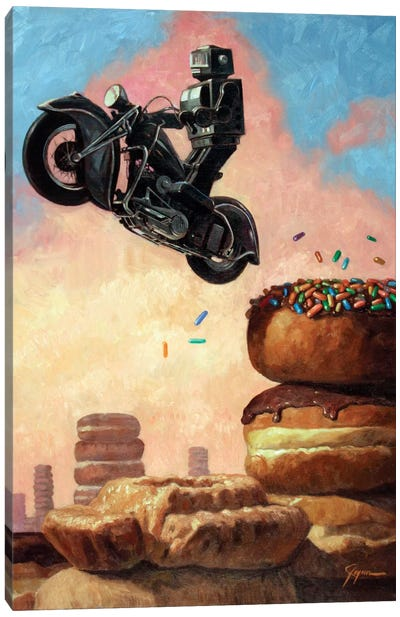 Dark Rider Again Canvas Art Print