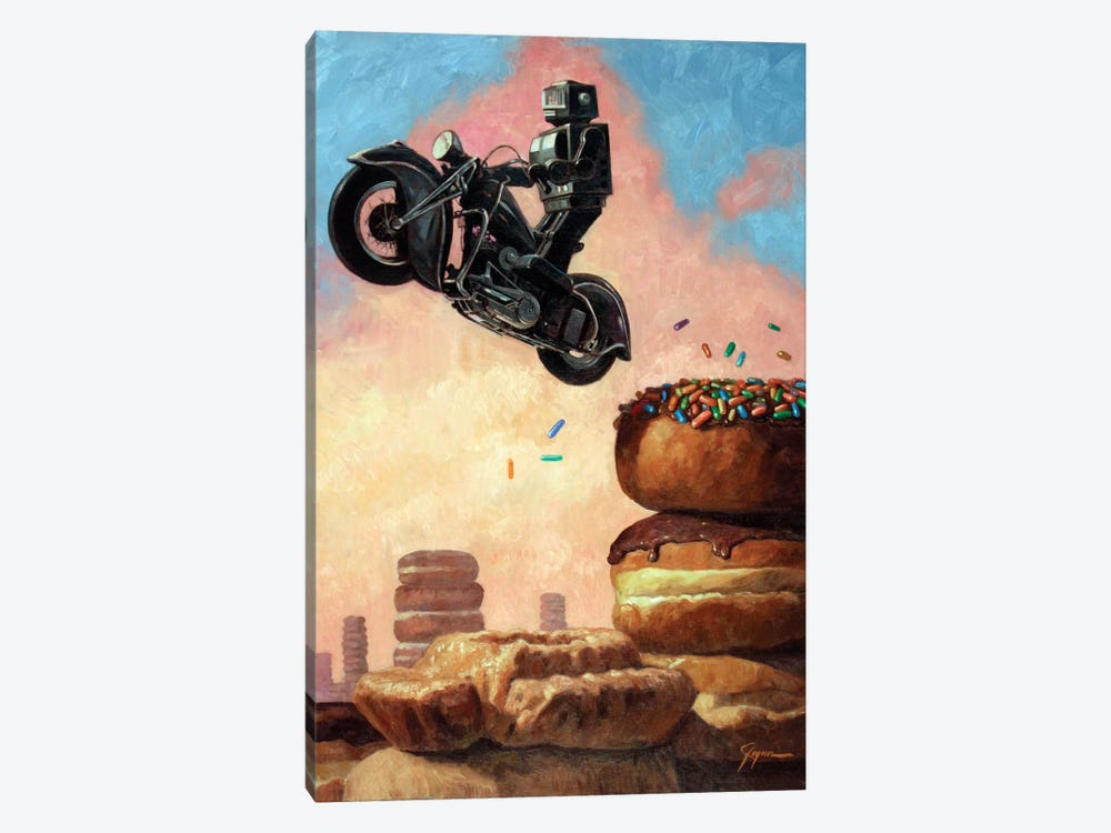 Dark Rider Again by Eric Joyner 1-piece Canvas Print