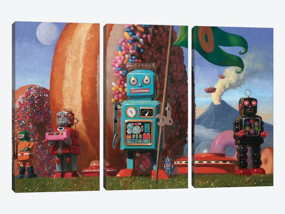 Landing Party 7 by Eric Joyner 3-piece Canvas Wall Art