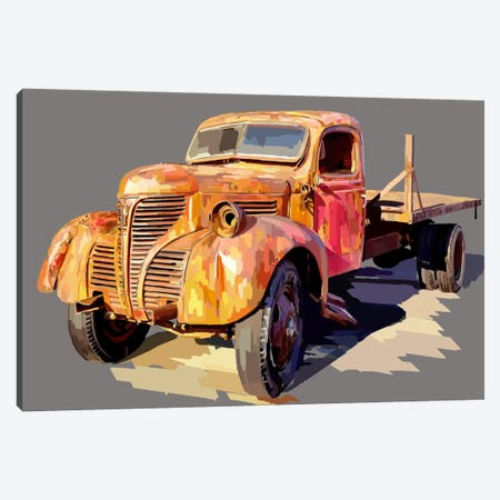 Powerful Truck II Canvas Print #EKA10} by Emily Kalina Canvas Wall Art