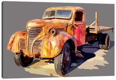 Powerful Truck II Canvas Art Print