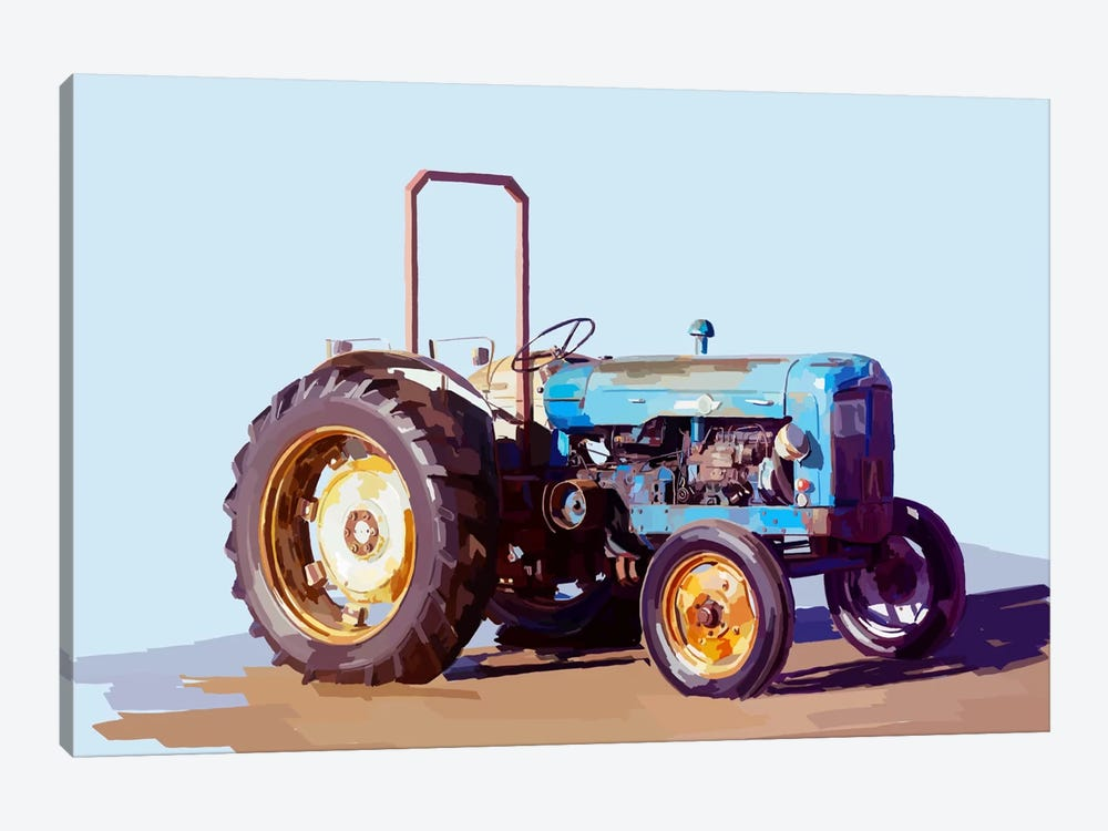 Vintage Tractor I by Emily Kalina 1-piece Canvas Artwork