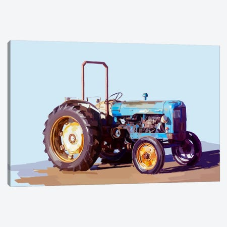 Vintage Tractor I Canvas Print #EKA11} by Emily Kalina Canvas Art