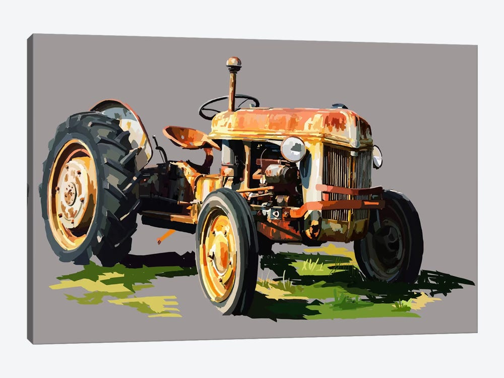 Vintage Tractor II by Emily Kalina 1-piece Canvas Print