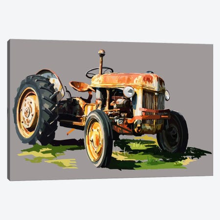 Vintage Tractor II Canvas Print #EKA12} by Emily Kalina Canvas Artwork