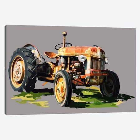 Vintage Tractor II Canvas Print #EKA12} by Emily Kalina Canvas Artwork
