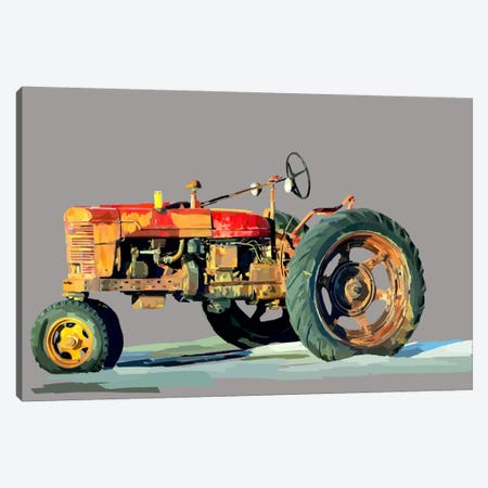 Vintage Tractor III Canvas Print #EKA13} by Emily Kalina Canvas Artwork