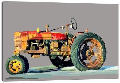 Vintage Tractor III Canvas Art Print