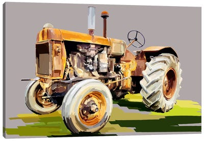 Vintage Tractor IV Canvas Print #EKA14
