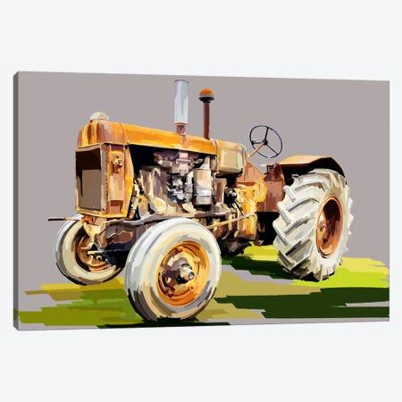Vintage Tractor IV 3-Piece Canvas #EKA14} by Emily Kalina Canvas Print