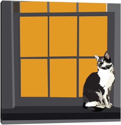 Cat on a Window Sill I Canvas Art Print