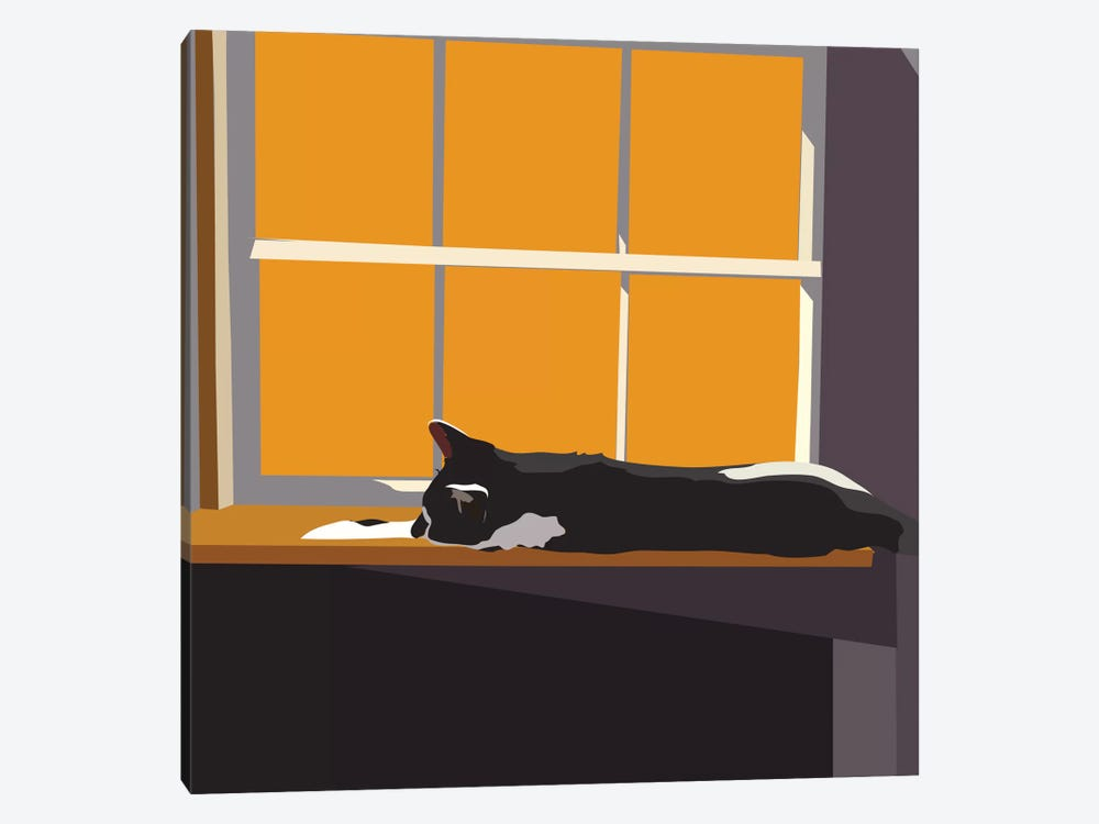 Cat on a Window Sill II by Emily Kalina 1-piece Canvas Art Print