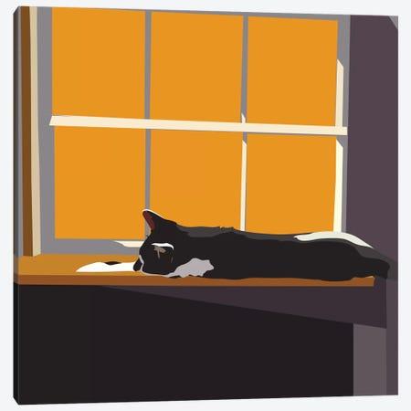 Cat on a Window Sill II Canvas Print #EKA16} by Emily Kalina Canvas Art Print