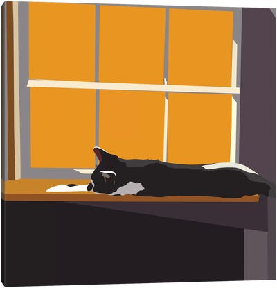 Cat on a Window Sill II Canvas Art Print