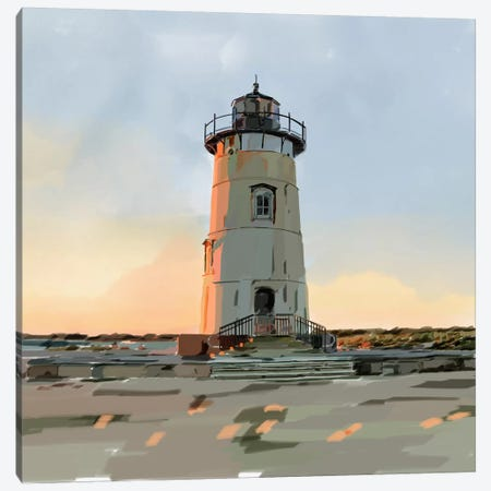 Lighthouse Scene I Canvas Print #EKA17} by Emily Kalina Art Print