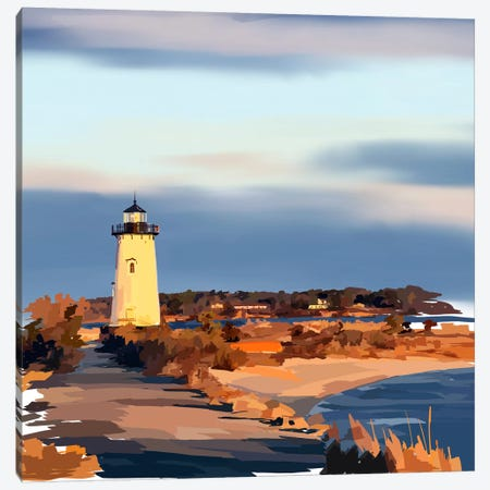Lighthouse Scene II Canvas Print #EKA18} by Emily Kalina Canvas Art