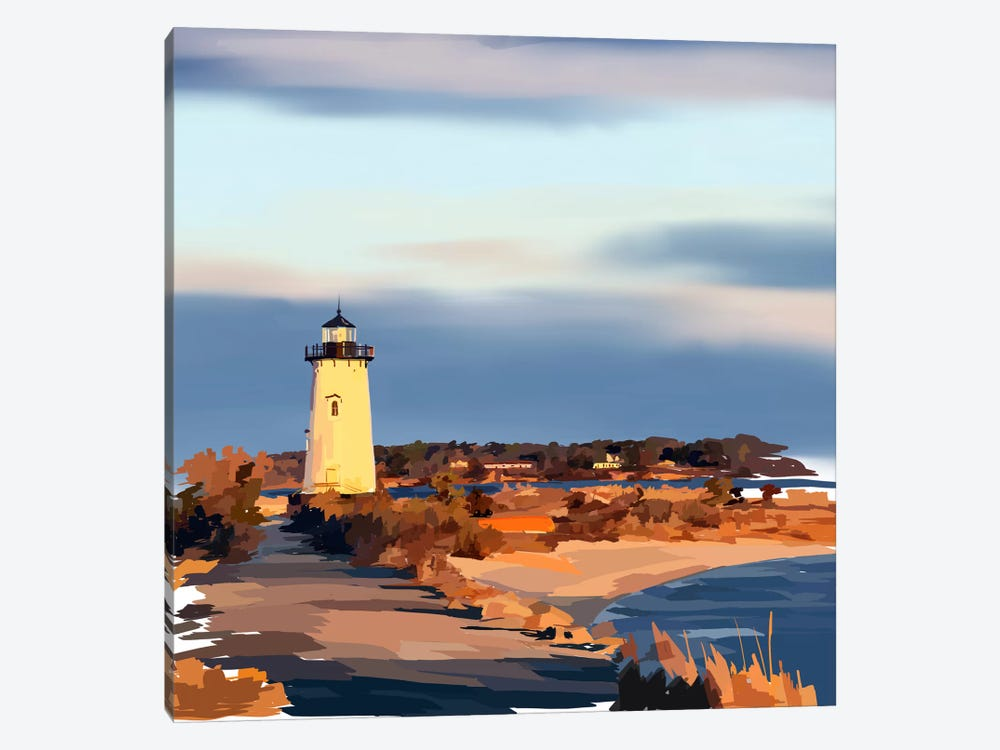 Lighthouse Scene II by Emily Kalina 1-piece Canvas Art Print