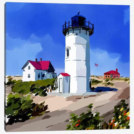 Lighthouse Scene III Canvas Print #EKA19} by Emily Kalina Canvas Artwork