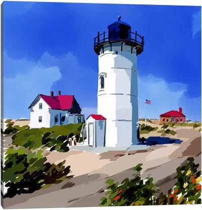 Lighthouse Scene III Canvas Art Print