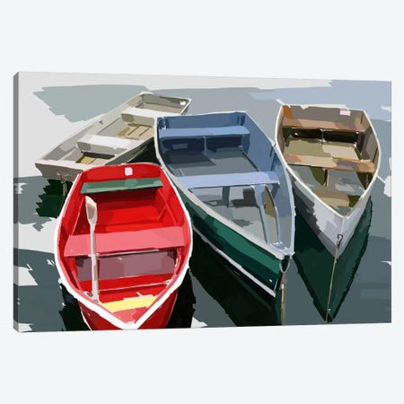 Bold Boats I Canvas Print #EKA1} by Emily Kalina Canvas Art Print