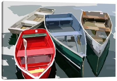 Bold Boats I Canvas Art Print