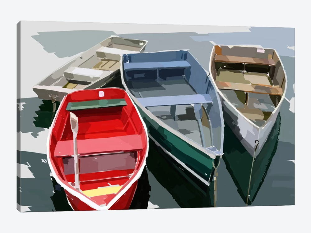 Bold Boats I by Emily Kalina 1-piece Canvas Art