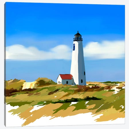Lighthouse Scene IV 3-Piece Canvas #EKA20} by Emily Kalina Art Print