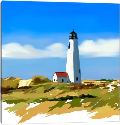 Lighthouse Scene IV Canvas Art Print