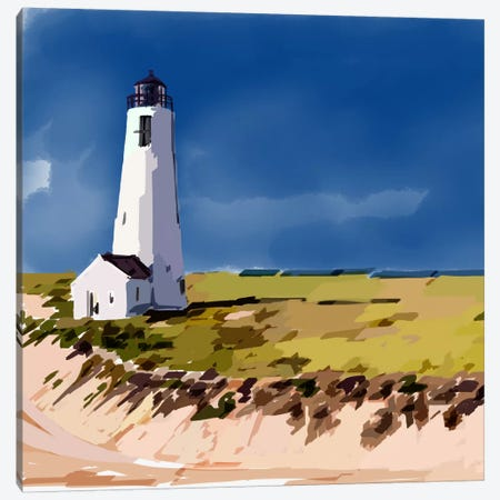 Lighthouse Scene V 3-Piece Canvas #EKA21} by Emily Kalina Canvas Art Print
