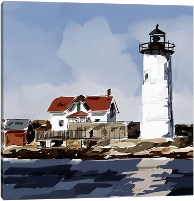 Lighthouse Scene VI Canvas Art Print