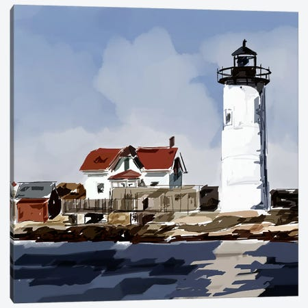 Lighthouse Scene VI Canvas Print #EKA22} by Emily Kalina Canvas Art Print