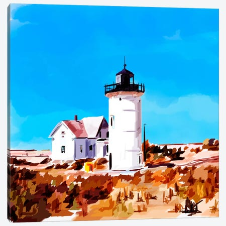 Lighthouse Scene VII Canvas Print #EKA23} by Emily Kalina Canvas Art Print