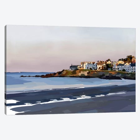 Peaceful Coast Canvas Print #EKA24} by Emily Kalina Canvas Art