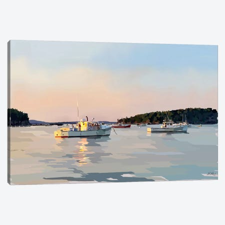 Peaceful Harbor I Canvas Print #EKA25} by Emily Kalina Canvas Artwork