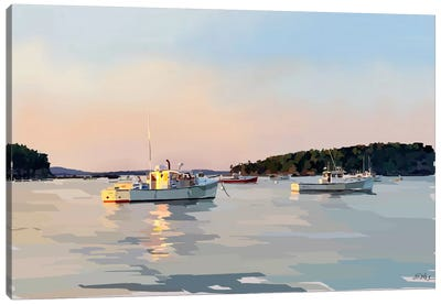 Peaceful Harbor I Canvas Art Print