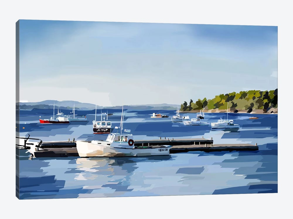 Peaceful Harbor II by Emily Kalina 1-piece Canvas Artwork