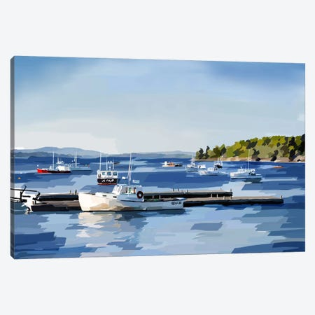Peaceful Harbor II Canvas Print #EKA26} by Emily Kalina Canvas Art