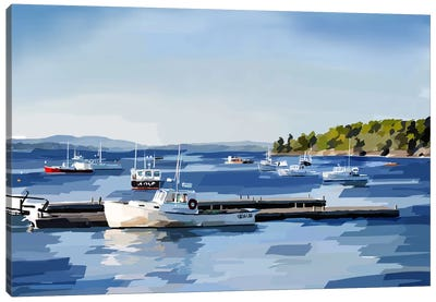 Peaceful Harbor II Canvas Art Print