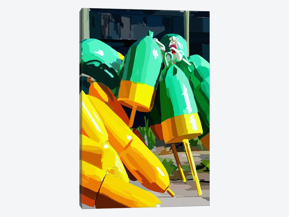 Vibrant Buoys I by Emily Kalina 1-piece Art Print