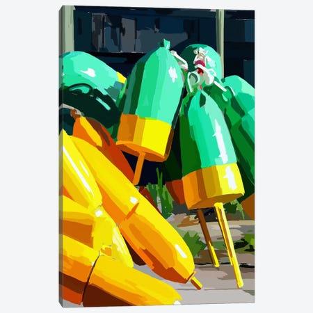 Vibrant Buoys I Canvas Print #EKA27} by Emily Kalina Canvas Art