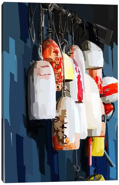 Vibrant Buoys II Canvas Art Print