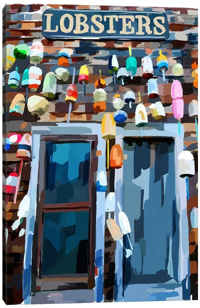 Vibrant Buoys III Canvas Art Print