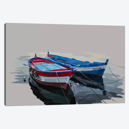 Bold Boats II Canvas Print #EKA2} by Emily Kalina Canvas Print