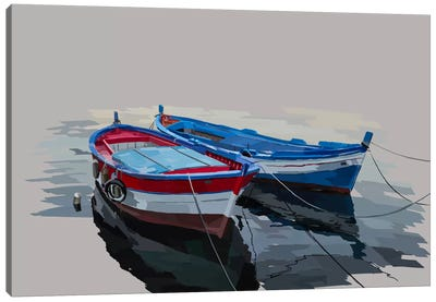 Bold Boats II Canvas Art Print