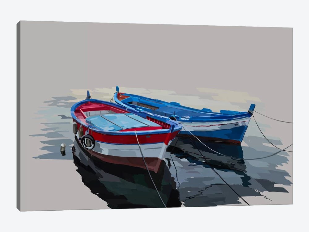 Bold Boats II 1-piece Canvas Art Print