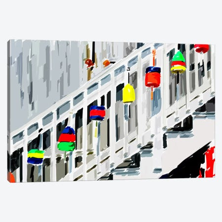 Vibrant Buoys IV Canvas Print #EKA30} by Emily Kalina Canvas Artwork