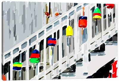 Vibrant Buoys IV Canvas Art Print