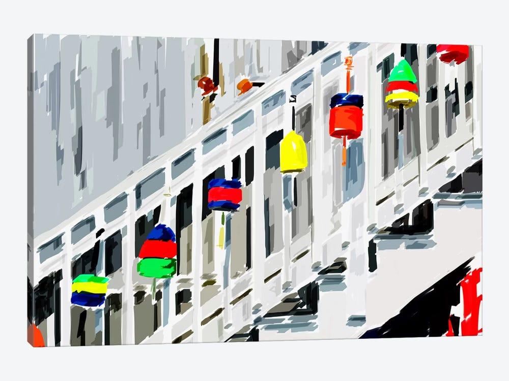 Vibrant Buoys IV by Emily Kalina 1-piece Art Print