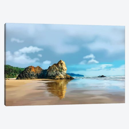 Oregon Coast III Canvas Print #EKA33} by Emily Kalina Canvas Artwork